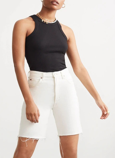 XHAN Siyah Kaşkorse Kolsuz Bluz 1Kxk2-44262-02 Siyah